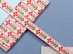 チロルテープ花 白×赤×ピンク