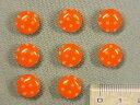 プリントボタン(水玉 11mm)オレンジ