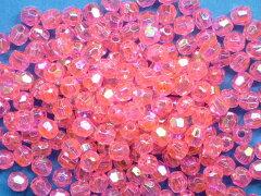 73007プラカットビーズ(6mm)ピンク