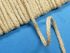 27261麻(100%)三つ編みテープ・細濃ベージュ