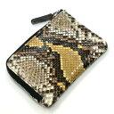 パイソン蛇のファスナー財布