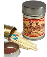 レトロラベル缶マッチー自転車