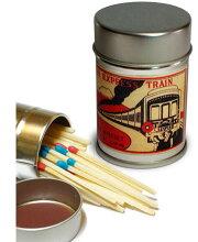 レトロラベル缶マッチー鉄道