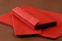 角2封筒カラークラフト封筒レッド・ブラック85【スミ貼】【郵便番号の枠なし】500枚
