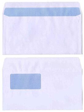 洋長3(洋0)封筒 窓付き白色封筒 カマス貼窓枠寸法:90mm×45mm 郵便番号の枠なし1,000枚 地紋