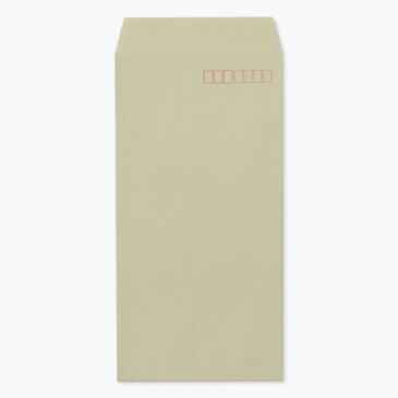 ハート クラフトカラー封筒 長40 グレー  70g/m2 ヨコ貼 枠入 1000枚 nd0821