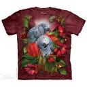 The Mountain Tシャツ African Gray Mates ( オウム メンズ 男性用 男女兼用 ) XL-4L 【輸入品】 大きいサイズ 半袖