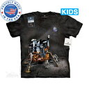 The Mountain Tシャツ The Smithsonian Apollo Lunar Module (The Smithsonian 宇宙 アポロ月着陸船 キッズ 子供用 女児 男児) S-2L 【輸入品】 半袖 アニマル マウンテン 動物