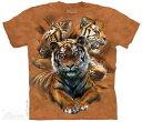 The Mountain Tシャツ Resting Tiger Collage T-Shirt タイガー 虎 (メンズ 男性用 男女兼用) S-2L【輸入品】半袖 マウンテン 動物