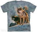 The Mountain Tシャツ Wolf Couple Sunset T-Shirt ウルフ 狼 (メンズ 男性用 男女兼用) S-2L【輸入品】半袖 マウンテン 動物 アニマル