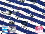 """男の子向きオックスプリント""""宇宙空間""""惑星・銀河・星座(巾110cm)【生地・布】【KOKKA】"""