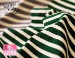 ココチファブリック/kokochifabricボーダーニットカラー(巾90cm)【生地・布】【KOF-12】