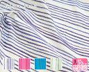 【nani IRO】SAAAA SAAA(ダブルガーゼ)手描き風ストライプ柄伊藤尚美さん【生地・布】JG10550-1