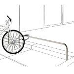 自転車車輪止め用横型バリカー帝金バリカー|駐輪場スーパーマーケットショッピングセンターパーキングバリカー防犯対策公園