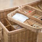 ソーイングバスケットラタン編みかご道具カゴ(S・L)裁縫箱