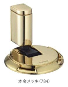 カワジュン製ドアキャッチャー AC-784-XG 本金メッキ KAWAJUN(内ビスタイプ)室内ドアストッパーおしゃれでシンプルな戸当たり金具にDIYで交換。ドアロックする戸あたり建具は、あおり止めに便利。マンションリフォームにも ドアストッパー おしゃれ 固定金具
