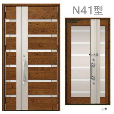商品リンク写真画像:略語「L」(合わせガラス)を使用した玄関ドア:LIXILプレナスXのN41 (窓工房 ナカサさんからの出展)