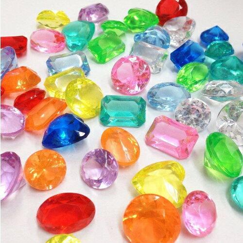 『カラー宝石 アクリルアイス ダイヤカット 10カラーミックス 1kg』画像