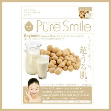 ※12個までゆうパケット送料180円※ 『エッセンス マスク 化粧水 タイプ 大豆イソフラボン ( Soybean ) 【1枚入】 ( Essence Mask Series for lotion type ) 【Pure Smile (ピュア スマイル)】』