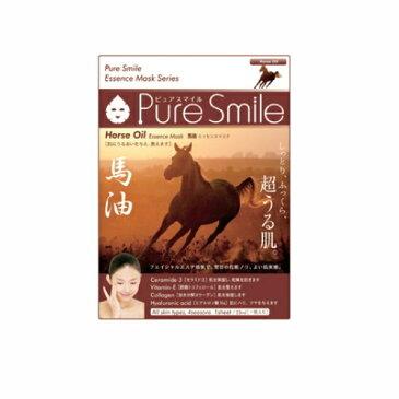 ※12個までゆうパケット送料200円※ 『エッセンス マスク 化粧水 タイプ 馬油 ( Horse Oil ) 【1枚入】 ( Essence Mask Series for lotion type ) 【Pure Smile (ピュア スマイル)】』