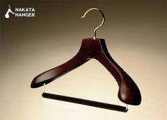 人体に近い湾曲と肩の丸みで大切なスーツの型崩れを防ぐ国産ハンガー(標準サイズ)AUT-05/木...