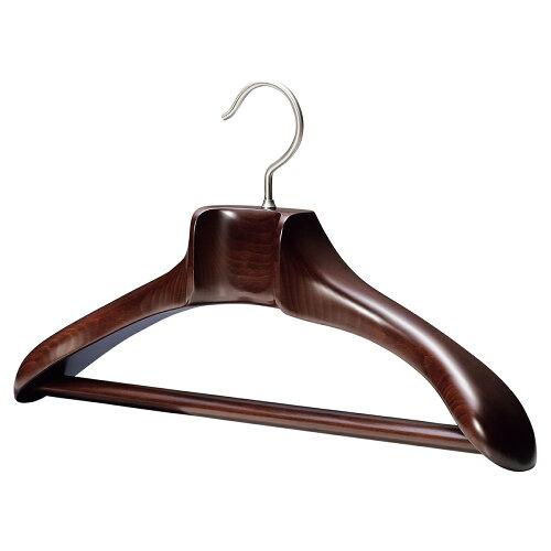 AUT-02/木製メンズジャケットハンガー/マーズブラウン