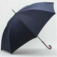 【日本製】先染めジャガード小紋柄(紺)65cm