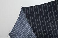 【日本製】高級紳士傘先染めジャガードストライプ柄(黒)65cm