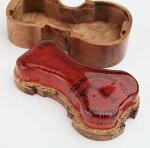 おシャレなバイオリン型枠のようなケース松脂製造メーカーTHORVALDSSON木箱入り高級松脂バイオリン・ビオラ・チェロに