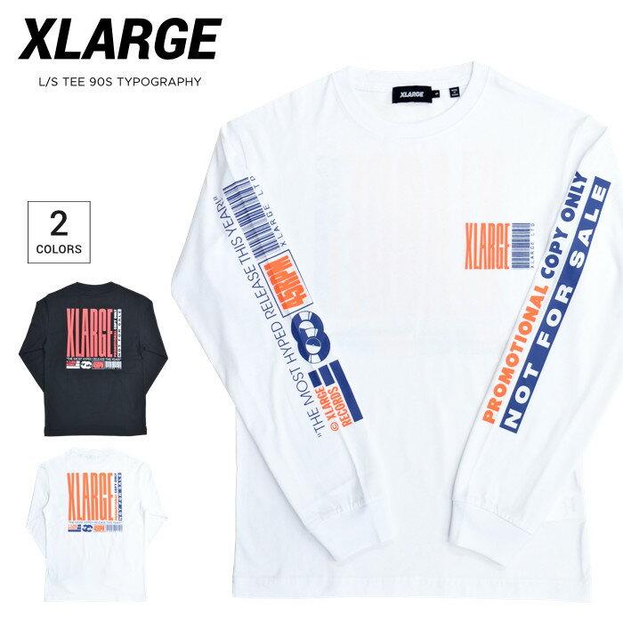 トップス, Tシャツ・カットソー  XLARGE T LS TEE 90S TYPOGRAPHY T S-XL 101212011016 RCP