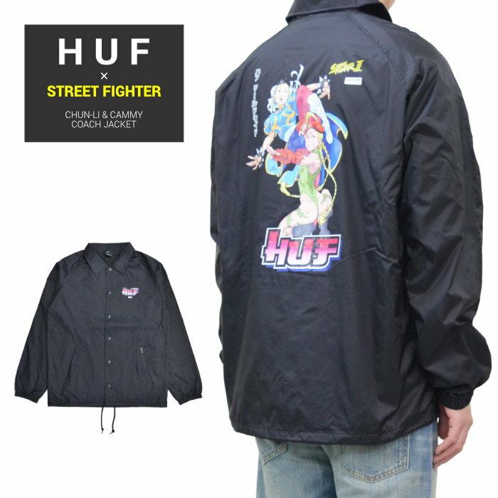 メンズファッション, コート・ジャケット  HUF STREET FIGHTER ( ) CHUN-LI CAMMY COACH JACKET S-XL JK00321 RCP