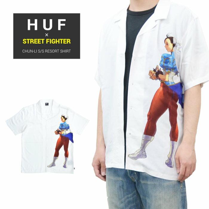 トップス, カジュアルシャツ  HUF STREET FIGHTER ( ) CHUN-LI SS RESORT SHIRT S-XL BU00124 RCP
