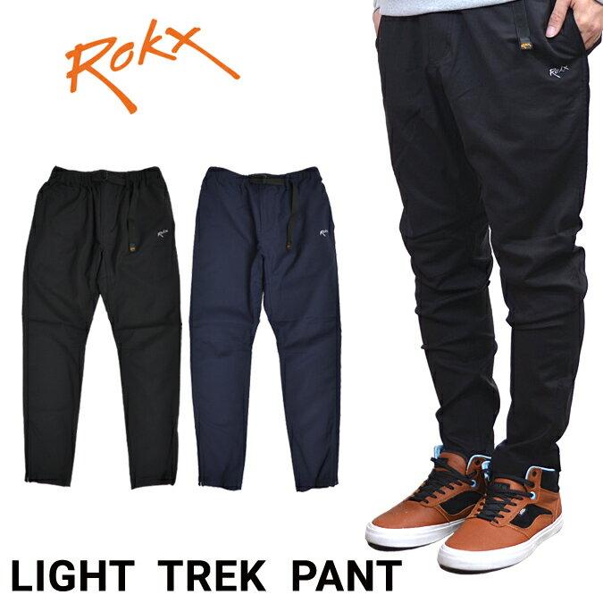 ROKX (ロックス) スリム テーパードイージーパンツ