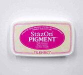 ステイズオン・ピグメントStazOnPIGMENT桃色ピンクコスモスpinkインク速乾溶剤性・顔料系インク速乾性SZ-PIG-081スタンプはんこツキネコtukinekoこどものかおKODOMONOKAO(メール便可!!)