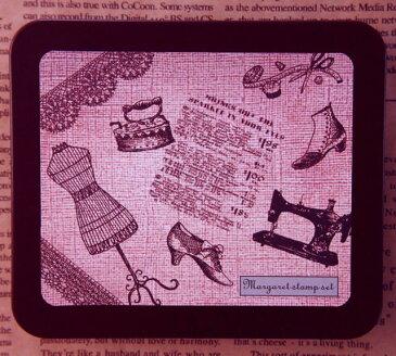 マーガレットスタンプセット はんこ 0831-015 裁縫 洋裁 女の子 洋服 靴 ブーツ パンプス アイロン ミシン 裁縫セット アンティーク レース トルソー おしゃれ こどものかお☆KODOMO NO KAO (レターパックライト可!!)