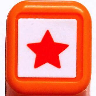 スケジュール浸透印スタンプ はんこ 0556-538 星 ☆ スター star ホシ おほしさま オレンジ 橙色 こどものかお KODOMO NO KAO (メール便可!!)