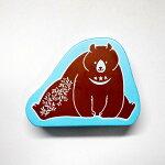 田口奈津子動物スタンプはんこJ:1692-001くま熊bearベアクマアトリエナコ森アニマルこどものかおKODOMONOKAO(メール便可!!)