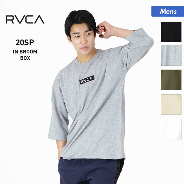 アウトレット メンズ Tシャツ BA041-218 ロゴ トップス ロンT 七分袖 ダボダボ ティーシャツ 男性用 ルーカ RVCA