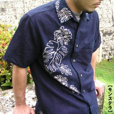 <受注生産:5〜6日後の発送>琉球藍染コットンリネンシャツ