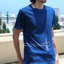 【受注生産:5〜6日後の発送】琉球藍染めオ ーガニック 綿 コットン Tシャツ