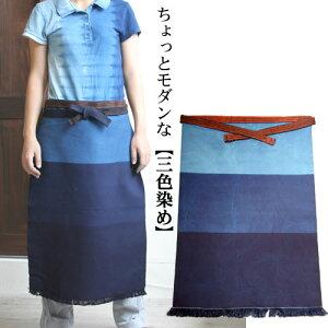 酒屋さん仕様の本格派!琉球藍染帆布前掛け【楽ギフ_名入れ】【RCP】