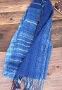 ≪限定商品≫天然100%!糸から藍染めして手織りしました。琉球藍染 手織りストール 【グラデ...