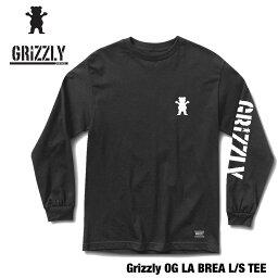 GRIZZLY OG LA BEAR L/S TEE BLACK/WHITE グリズリー オージーベア ロングスリーブ Tシャツメンズ レディース 長袖 トップス グリップテープ デッキテープ スケボー スケートボード おしゃれ かっこいい ストリート