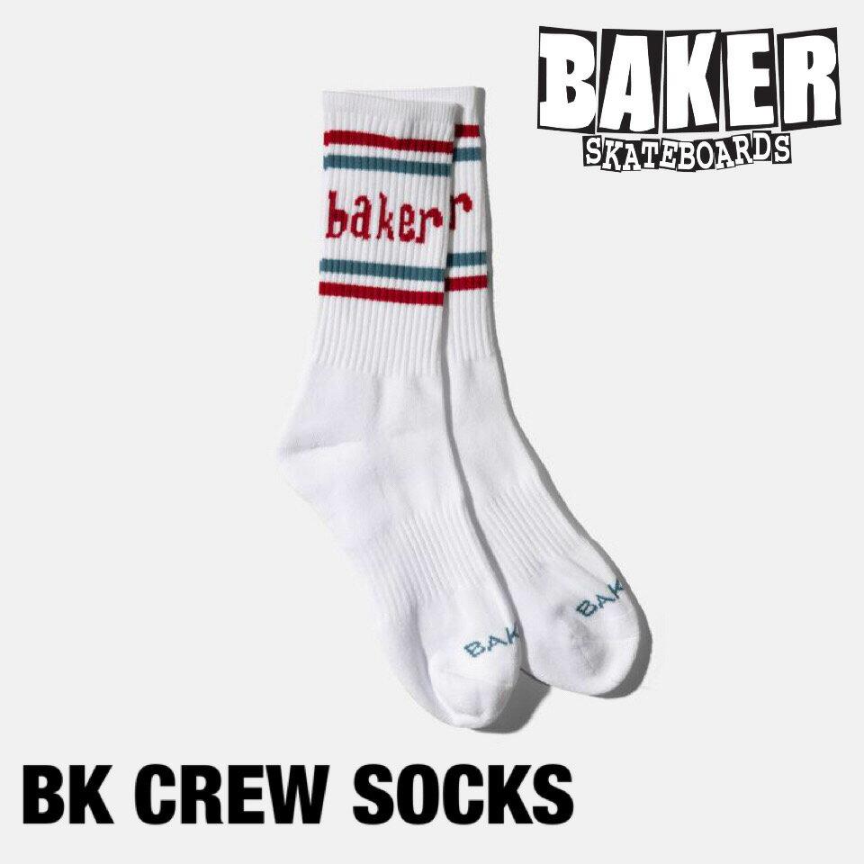 メンズファッション, その他 BAKER BRAND BK CREW SOCKS