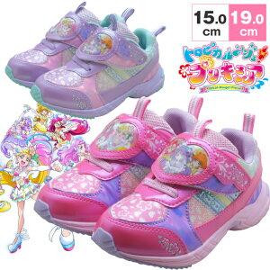 トロピカル〜ジュ! プリキュア キッズシューズ トロピカルージュプリキュア プリキュア靴 プリキュア キッズスニーカー ピンク キッズ 子供靴 女の子 キャラクターシューズ 5411