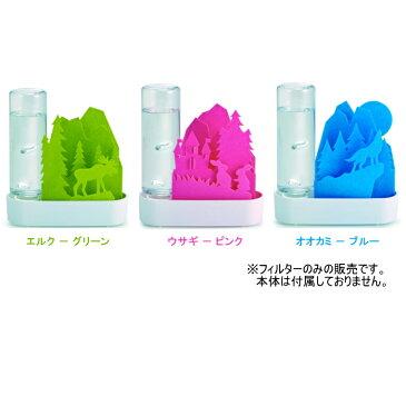 専用交換フィルター うるおい Animal -ちいさな森- 自然気化式ECO加湿器 積水樹脂 ウサギ ピンク エルク グリーン オオカミ ブルー 3種類