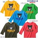 【送料無料】MIKIHOUSE(ミキハウス)DOUBLE_B(ダブルB)♪『Bigビーくん☆長袖Tシャツ』♪ 日本製ロンT【100cm110cm】