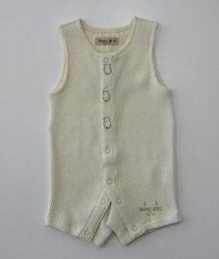セール30%OFF (メール便可)【Angel Star】[エンゼルスター]日本製 オーガニックコットン100% ノースリーブショートオール (70cm) (春夏物) (男の子 女の子) (ロンパース) (カバーオール) (ベビー服) (727731) SALE