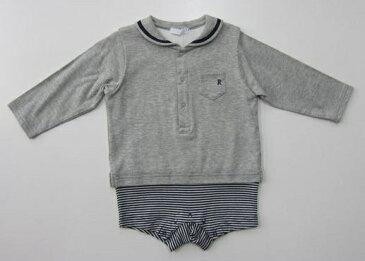 セール40%OFF (メール便可)【BeBe】[べべ]【reduction】[ルダクティオン]マリンテイストショートオール (80cm) (男の子) (春夏物) (カバーオール) (ロンパース) (ベビー服) (1757-016415)SALE