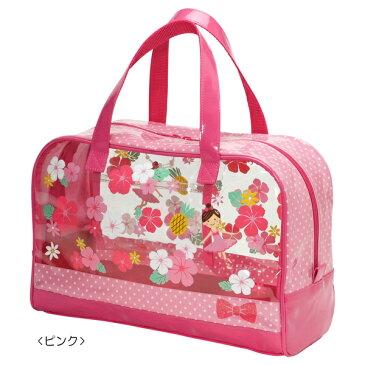 【ミキハウス】リーナちゃん♪ハイビスカスプリントビーチバッグ (女の子) [MIKIHOUSEのプールバッグ][キッズ](12-8204-977)